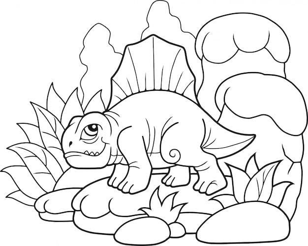 Schattige dinosaurus dimetrodon