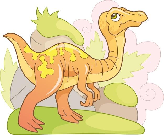 Schattige dinosaurus gallimimus