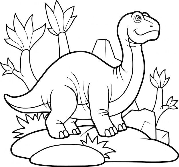 Schattige dinosaurus