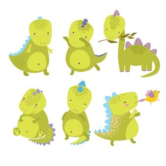 Schattige dinosaurussen