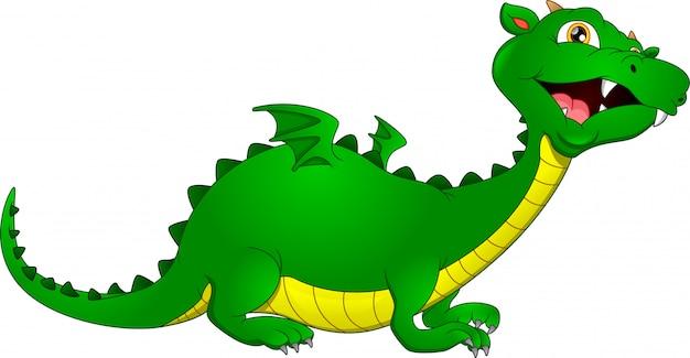 Schattige draak cartoon