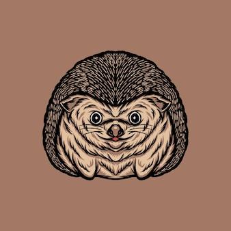 Schattige egel zittend illustratie