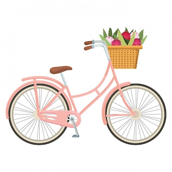 Schattige fiets cartoon