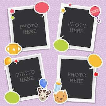 Schattige fotolijsten voor baby's
