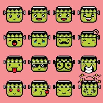 Schattige frankenstein-emoji