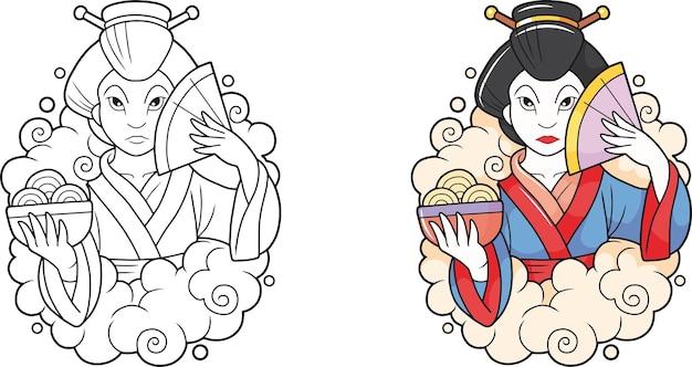 Schattige geisha