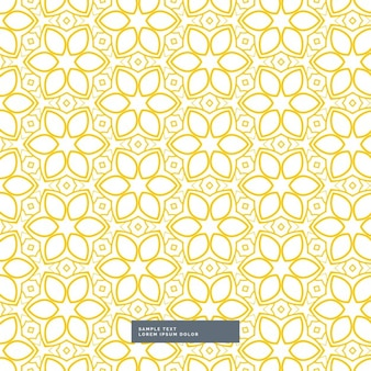 Schattige gele bloem patroon op een witte achtergrond