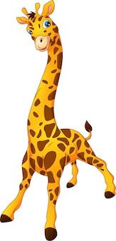 Schattige giraffe cartoon