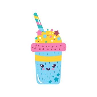 Schattige gom karakter kawaii milkshake drankje