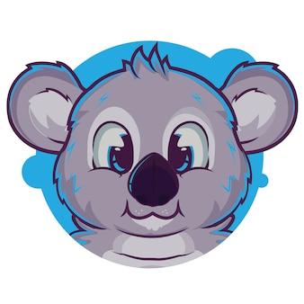 Schattige grijze koala avatar