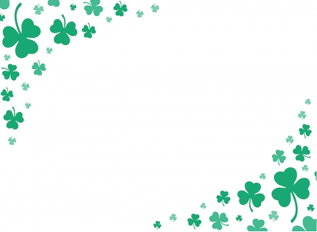 Schattige groene klaver blad achtergrond vector