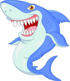 Schattige haai cartoon