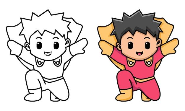 Schattige held kleurplaat voor kinderen
