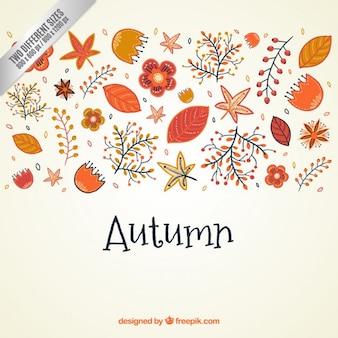 Schattige herfst natuur achtergrond