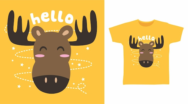 Schattige herten voor t-shirtontwerp