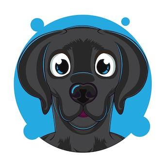 Schattige hond hoofd avatar