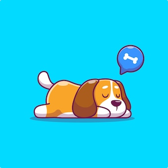 Schattige hond slapen