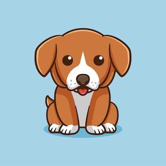 Schattige hond zit vector ontwerp