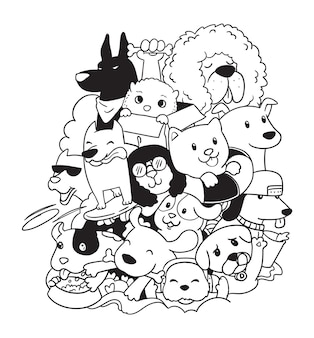 Schattige honden doodle