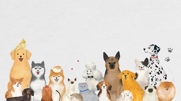 Schattige huisdieren illustratie