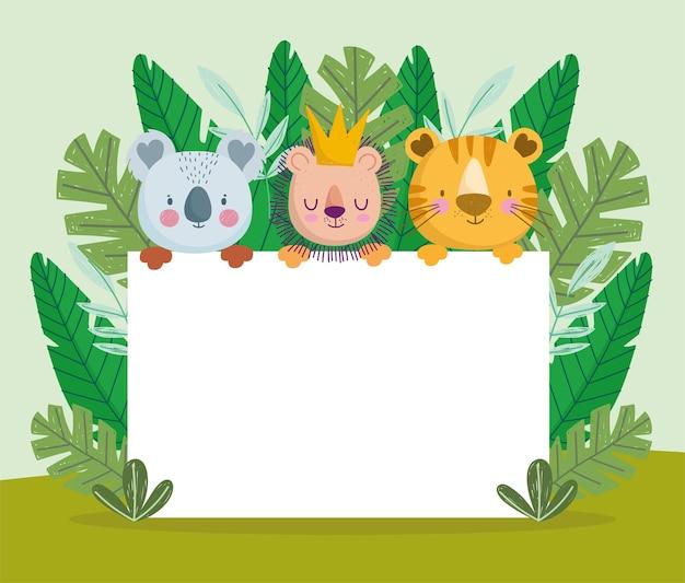 Schattige jungle dieren