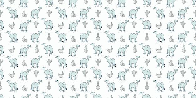 Schattige kameel naadloze patroon achtergrond voor baby thema