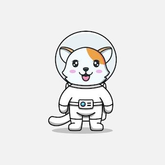 Schattige kat in astronautenpak
