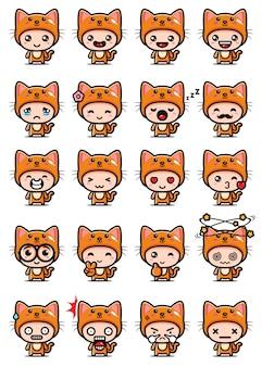 Schattige kat mascotte decorontwerp