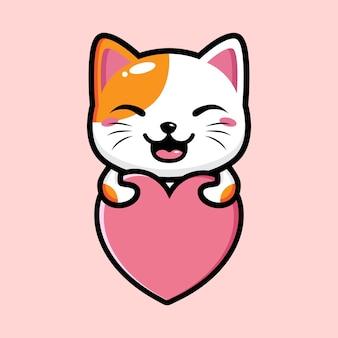 Schattige kat mascotte