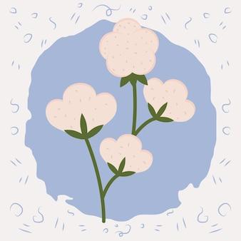 Schattige katoenen bloemen