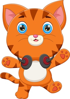 Schattige katten cartoon