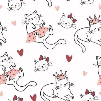 Schattige katten patroon ontwerp