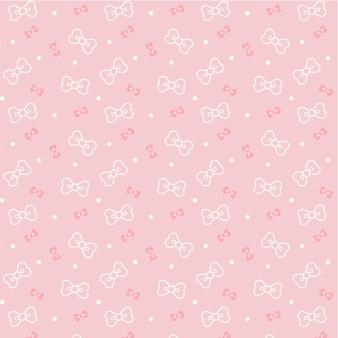 Schattige kawaii linten transparant naadloos patroon