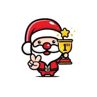 Schattige kerstman won de 1e plaats