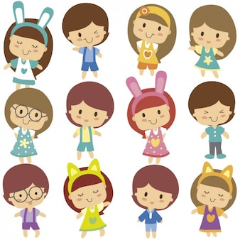 Schattige kinderen karakter
