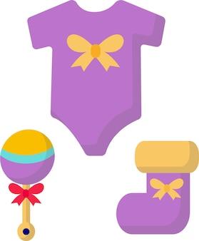 Schattige kinderen speelgoed rammelaar sokken en bodysuit ontwikkeling van het kind