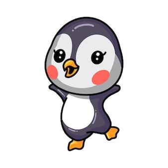 Schattige kleine baby pinguïn cartoon poseren
