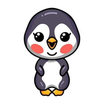 Schattige kleine baby pinguïn cartoon staande