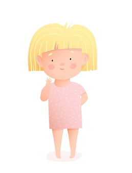 Schattige kleine babymeisje draagt een jurk