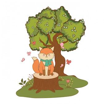 Schattige kleine dieren cartoon