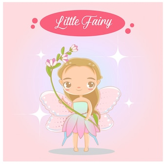 Schattige kleine fee prinses karakter