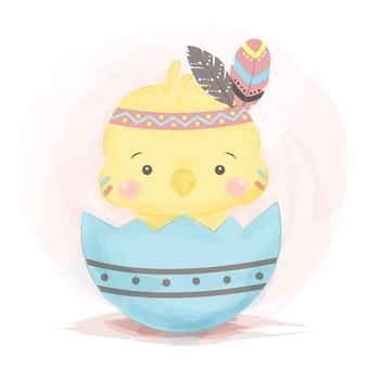 Schattige kleine kip illustratie