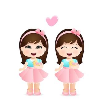 Schattige kleine meisjes