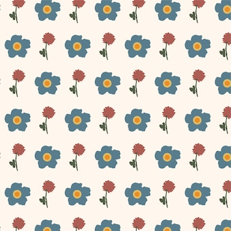 Schattige kleine naadloze bloemmotief achtergrond motieven willekeurig verspreid