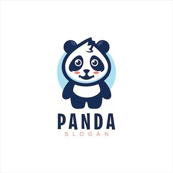 Schattige kleine panda-logo