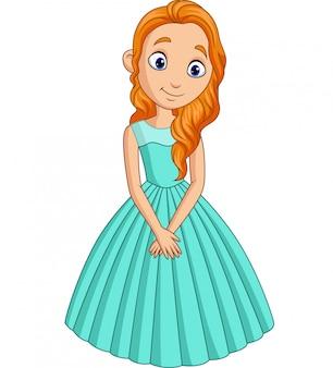 Schattige kleine prinses geïsoleerd