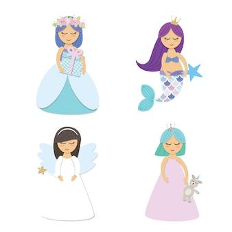 Schattige kleine prinses