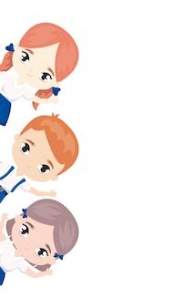 Schattige kleine studenten avatar karakter
