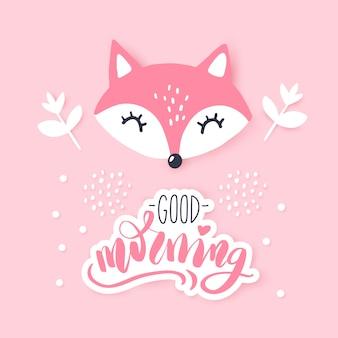 Schattige kleine vos. dierlijke illustratie. hand getekend cartoon fox.