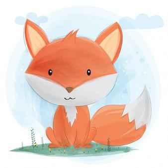 Schattige kleine vos.